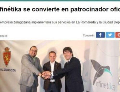 Efinétika se convierte en patrocinador oficial del Real Zaragoza