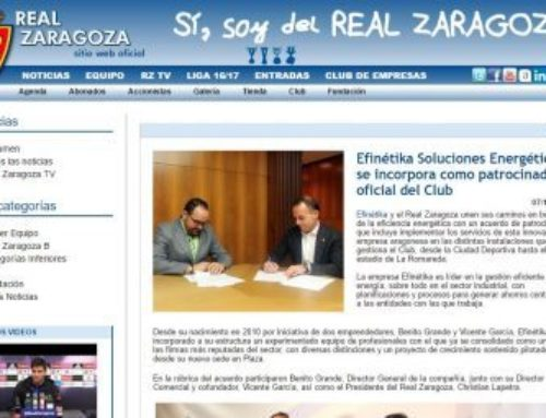 Efinétika Soluciones Energéticas se incorpora como patrocinador oficial del Club